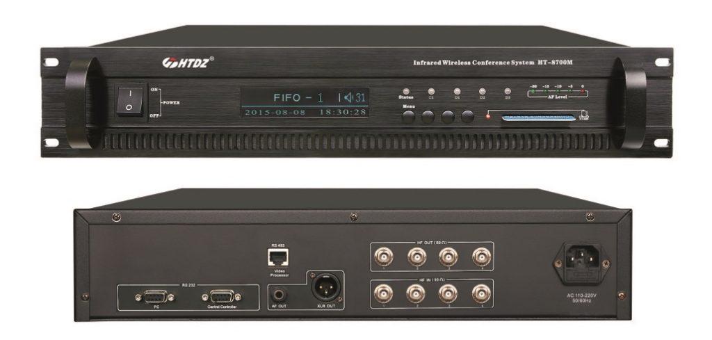 Centrale de conférence sans fil infra-rouge HTDZ HT-8700M