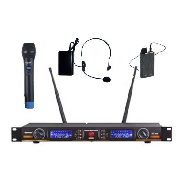 Système de microphone HF - à main, cravate ou serre tête, double ou simple - HT-66