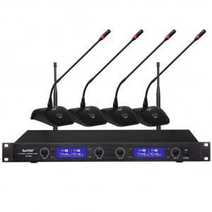 Mini système conférencier 2 ou 4 postes HF HTDZ HT-820B ou HT-840B